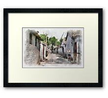 Hutongs, Beijing, China Framed Print