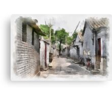 Hutongs, Beijing, China Canvas Print
