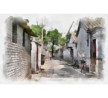 Hutongs, Beijing, China Photographic Print