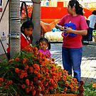 Marigolds at the Market by Elena Vazquez