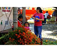 Marigolds at the Market Photographic Print