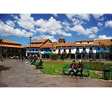 Blue Skies in Cusco Photographic Print
