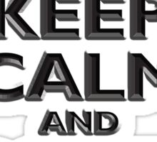Keep Calm & Carry On, Be British! UK, Britain, Blighty, Chisel on Red Sticker