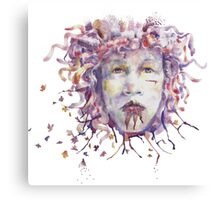 Autumn Boy Watercolor Canvas Print