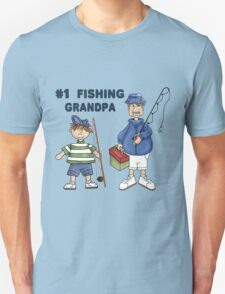 Number #1 Fishing Grandpa Unisex T-Shirt