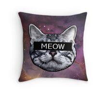 Censor Cat Throw Pillow