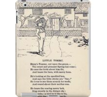 Miniature Under the Window Pictures & Rhymes for Children Kate Greenaway 1880 0037 Little Tommy iPad Case/Skin