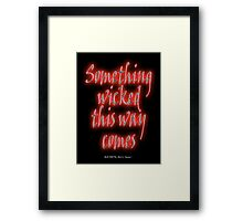 MACBETH, Something Wicked, Shakespeare Play, Theater, Play, Second Witch Framed Print