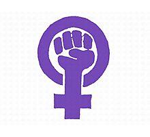 Feminist - Purple Photographic Print