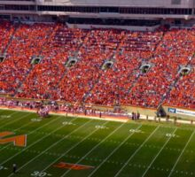 Lane Stadium Orange Effect Sticker