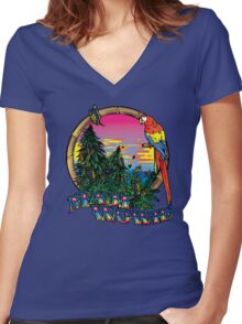 Mowie Wowie Women's Fitted V-Neck T-Shirt