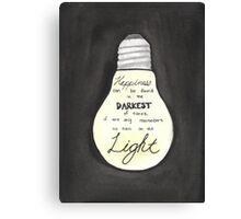 Harry Potter Light Quote Canvas Print