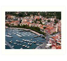 Lerici Touristic Harbour Art Print