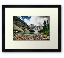 Famous Moraine Lake Framed Print
