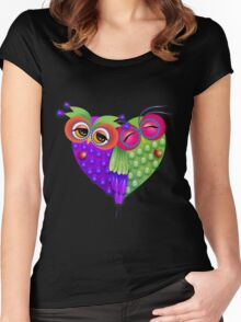 Owl's love Women's Fitted Scoop T-Shirt