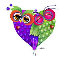 Owl's love Photographic Print