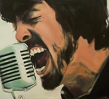 Dave Grohl Painting - Singing Best of You by SMalik