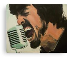 Dave Grohl Painting - Singing Best of You Canvas Print