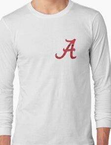 Alabama Crimson Wood Long Sleeve T-Shirt