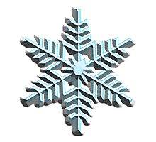 SNOWFLAKE, Cool, Snow, Snow crystals, Winter, Cold, Ice Crystal, Frozen, Freeze Photographic Print