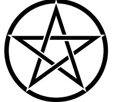 Pentacle, Witch, Wizard, WICCA, Modern Pagan, Witchcraft, Religion. by TOM HILL - Designer