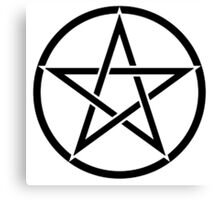 Pentacle, Witch, Wizard, WICCA, Modern Pagan, Witchcraft, Religion. Canvas Print