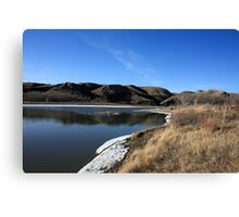 Looking Up the Old Man River Canvas Print