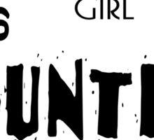 classy girl loves country music Sticker