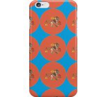 Monster Pattern (Red Orange Background) iPhone Case/Skin