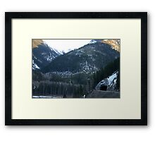 Tunnel in the Mountain Framed Print