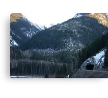 Tunnel in the Mountain Canvas Print