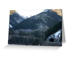 Tunnel in the Mountain Greeting Card