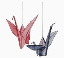 Origami Crane One Piece - Long Sleeve
