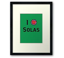 I Heart Solas Framed Print