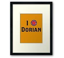 I Heart Dorian Framed Print