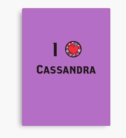 I Heart Cassandra Canvas Print
