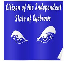 They want to set up their own Independent State of Eyebrows! white version Poster