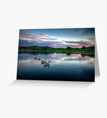 Sunset Ducks Greeting Card