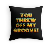 Thrown Off Groove Throw Pillow
