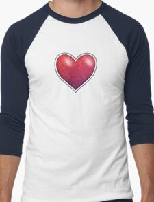 Heart of Pixels Men's Baseball ¾ T-Shirt