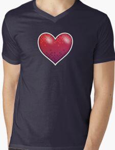 Heart of Pixels Mens V-Neck T-Shirt