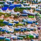 Lots and lots of bottles - holding up the wall! Barrydale South Africa by Fineli