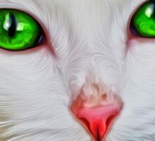 Green Eyes Cat Sticker