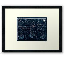 Atlas zu Alex V Humbolt's Cosmos 1851 0140 Die Sternen Welt The Starry World Inverted Framed Print