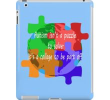Autism is a collage (v2 - white text) iPad Case/Skin