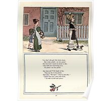 Under the Window Pictures and Rhymes for Children Edmund Evans and Kate Greenaway 1878 0052 Proud Girl Poster