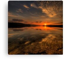 In Reflection - Narrabeen Lakes, Sydney - The HDR Experience Canvas Print