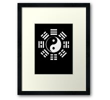 I Ching, Yin Yang, Martial Arts, Pure & simple, WHITE Framed Print