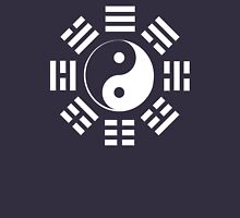 I Ching, Yin Yang, Martial Arts, Pure & simple, WHITE Womens Fitted T-Shirt