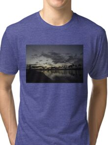 Hawaiian Sunset - Waikiki, Honolulu Tri-blend T-Shirt